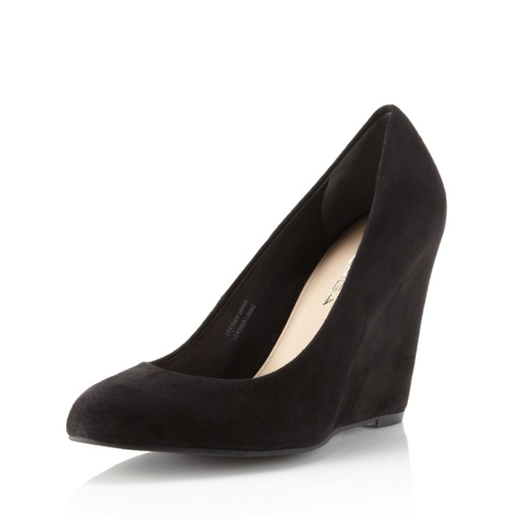 explore cheap online cheap best seller Via Spiga Suede Wedge Pumps buy cheap with mastercard clearance really LIlMg